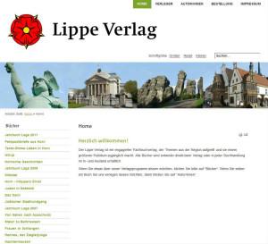 Internetauftritt Lippe Verlag