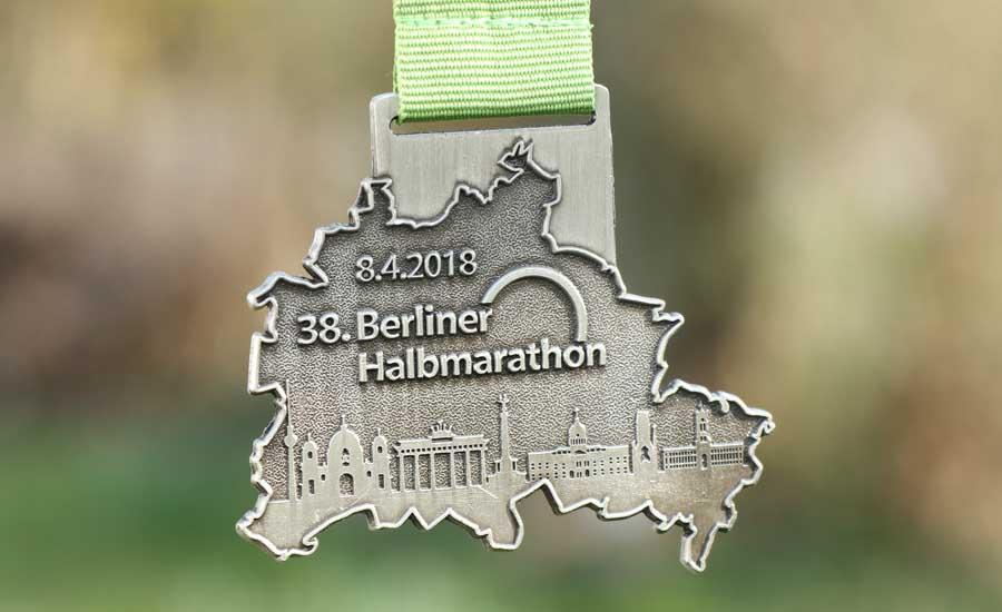 Beim Halbmarathon in Berlin